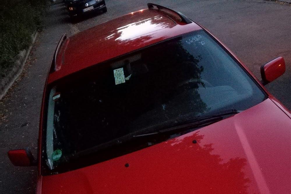 Rotes Fotografen Mobil